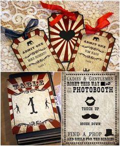 Vintage Carnival  DIY Wedding Decor Printables