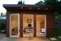 Garden office from shipping container... I want.