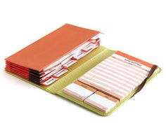 Accordion wallet- a place for coupons and a grocery list all in one. PERFECT