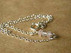 Sterling Silver Pink Faceted Rose Quartz Anklet. by PeggysPassions, $16.00