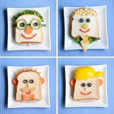 Special made sandwiches food healthy foods healthy living health and fitness sandwiches healthy lifestyle kids food art and food kids sandwiches Food Art For Kids, Cooking With Kids, Food Kids, Easy Cooking, Healthy Cooking, Healthy Foods, Cooking Tips, Cooking Recipes, Toddler Meals