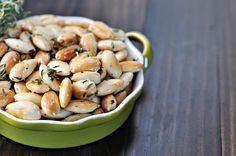 Pan Fried Almonds with Thyme by Courtney | Cook Like a Champion, via Flickr