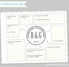 Simple Guestbook Page layout  Editable text option...