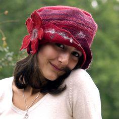 felted wool hat handmade with merino wool big felt by jannio, $88.00