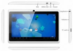 WolVol NEW (Android 4.0 - 1GB RAM) Ultra-Thin WHITE 7inch Tablet PC Touch Screen, WiFi and Camera with Google Play, Flash Player, 3D/HD Video (Includes: Brown Velvet Pouch Case, Touch Pen, Charger, Screen Protector)  Product sku: 129 Availability: 5  Price: $109.99 $99.94