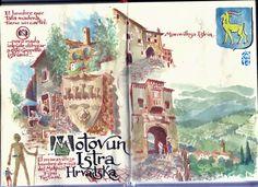 de vuelta con el cuaderno: Maravillosa Istria. Motovun
