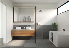 HOMES FOR LIFE - figr Bathtub, Vanity, Bathroom, Life, Homes, Bath, Bath Tube, Painted Makeup Vanity, Houses
