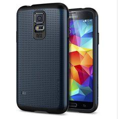 Phone Cover For Samsung Galaxy S5 i9600 SGP SPIGEN Tough Armor Case Sapphire