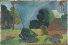 NOT ON VIEW Paul Gauguin. Tahitian Landscape. 1899. Oil on canvas.  The William S. Paley Collection. SPC67.1990. Painting and Sculpture