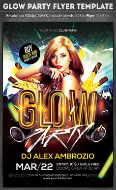 Glow Party Flyer Template | Glow, Flyer template and Glow party