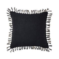 Home Republic - Genoa Vintage Washed Linen Cushion Charcoal Couch Cushions, Outdoor Cushions, Linen Pillows, Linen Bedding, Bed Linens, Duvet, Home Republic, Black Bed Linen, Cushions Online