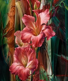 Painting, Flower, Art Work by Vie Dunn - Harr Arte Floral, Art Amour, Fine Art, Beautiful Paintings, Flower Art, Art Flowers, Painting & Drawing, Fabric Painting, Amazing Art