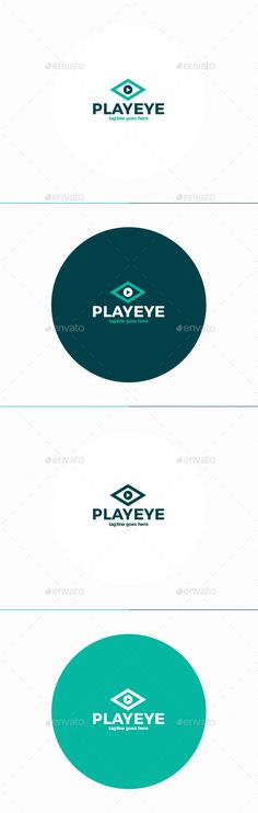 Play Eye  Logo Design Template Vector #logotype Download it here: http://graphicriver.net/item/play-eye-logo/11874370?s_rank=698?ref=nexion