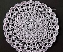 Pear Blossoms Crochet Doily