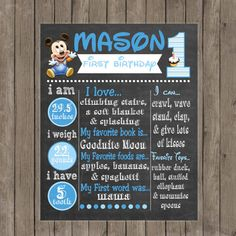 10 OFF Sale Baby Mickey Mouse First Birthday by PeriwinklePapery, $14.99