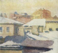 Николай Петрович Крымов (1884-1958)Крыши, 1952