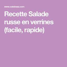 Recette Salade russe en verrines (facile, rapide)