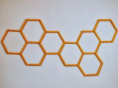 Pink Stripey Socks: DIY Honeycomb Hexagon Popsicle Stick Wall Art
