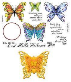 Stamp Set 437 - Fancy Butterflies - Spellbinders Combo Set