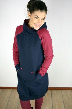 Farb- und Stilberatung mit www.farben-reich.com - Kleid Atlanta in dunkelblau von SHOKO Shop auf DaWanda.com