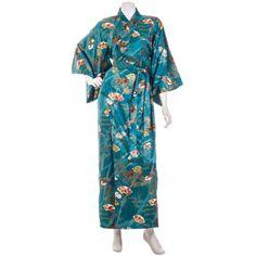Green-Silk-Bamboo-Kimono-Robe-Dressing-Gown-Japanese-Kimonos