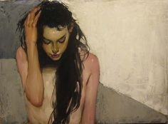 Malcolm Liepke, By Herself oil on canvas