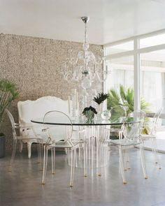 I love Lucite furniture.