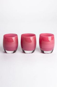 Glassybaby candle holders, perfect for the Easter table!