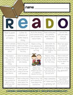 FREE Reado, Write, and Matho choice boards – super! FREE Reado, Write, and Matho choice boards – super! Reading Bingo, First Grade Reading, Kindergarten Reading, Teaching Reading, Reading Logs, Teaching Ideas, Reading Games, Reading Response, Reading Centers
