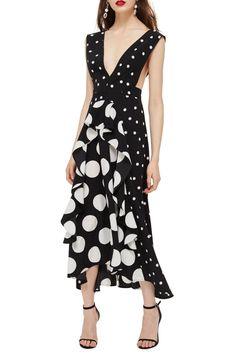 dc9e8a34c87bb5 Free shipping and returns on Topshop Petite Spot Pinafore Dress at  Nordstrom.com. Bursting