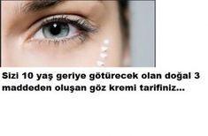 en etkili doğal göz kremi tarifi