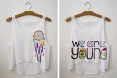 Cute summer diy shirts. Print. Iron. Peel. Done.