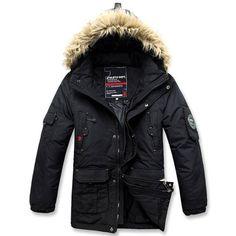 New Men's Parka 90 Duck Down Hooded Jacket Warm Winter Coat Black Outwears Sz Black Winter Coat, Winter Coats, Mens Down Jacket, Duck Down, Canada Goose Jackets, Mantel, Parka, Hooded Jacket, Winter Jackets