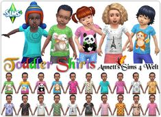 Annett's Sims 4 Welt: Toddlers Shirts