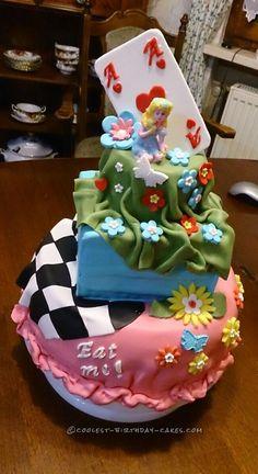 Goodbye Party Alice in Wonderland Cake... Coolest Birthday Cake Ideas