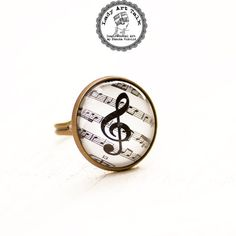 Treble Clef Ring - Music Note Ring - Treble Clef Jewelry - Music Jewelry - Music Ring - Music Gift - Gift for Music Lover - for Musician