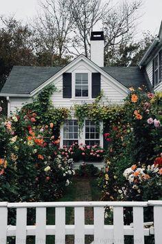 My future house/garden Garden Cottage, Cozy Cottage, Cottage Homes, Cozy House, Cottage Style, Home And Garden, White Cottage, Summer Garden, Grandma's House