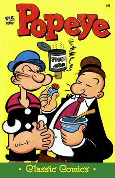 Popeye and Wimpy idw Vintage Comic Books, Vintage Cartoon, Vintage Comics, Popeye Cartoon, Cartoon Tv, Retro Cartoons, Classic Cartoons, Popeye And Olive, Popeye The Sailor Man