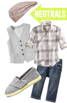 Waymine Kids Baby Boys Long Sleeve Gray Strip Print Shirt Tops+Denim Pants Gentleman Set