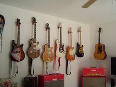 Hang Guitar On Wall guitar wall mount … | pared casa :) | pinterest | guitar wall