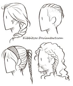 Hair Reference Sheet By Kibbitzer The Braids One Was Really Difficult BRAIDS ARE HELL