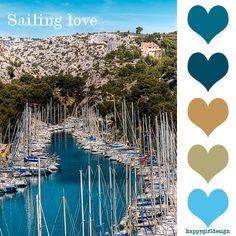 #color  sailing love