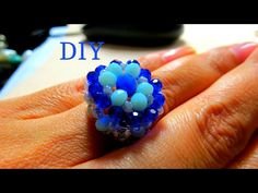 Diy Beaded Rings, Diy Jewelry Tutorials, Rings N Things, Ring Tutorial, How To Make Rings, Beading Projects, Beads And Wire, Beading Patterns, Gifts For Friends