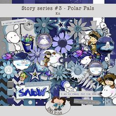 Story Series - Polar Pals Kit The Polar Pals is the third part of our Story series. Digital Scrapbooking, Challenges, Kit, Shop, Events, Design, News, Store