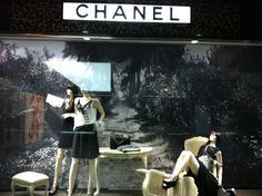 A wonderful monochrome riviera scene in Chanel