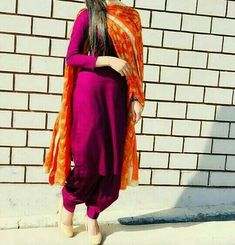 Shop salwar suits online for ladies from BIBA, W & more. Explore a range of anarkali, punjabi suits for party or for work. Patiala Salwar Suits, Patiala Suit Designs, Salwar Designs, Kurti Designs Party Wear, Lehenga Designs, Sharara, Punjabi Suit Simple, Simple Indian Suits, Punjabi Suits Designer Boutique