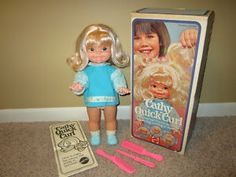 Cathy Quick Curl doll i had as a kid in the 70's. She had copper strands in her hair so u could use the pretend iron to curl it. So stylin'