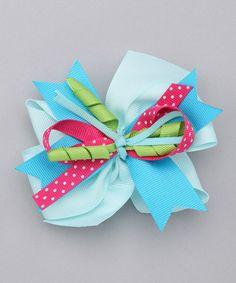 Blue Twist Happy Clip