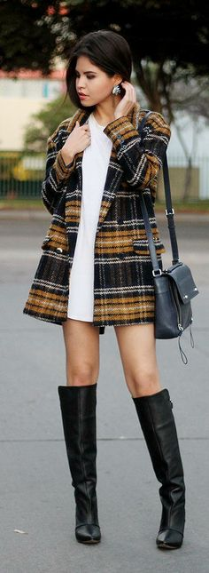 Checked coat  http://fake-leather.com/checked-coat-plaid-trend/
