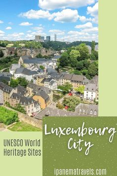 The whole Old Town of Luxembourg City is a UNESCO World Heritage Site. Read here which places to visit in the Old Town and why are they UNESCO-listed. Travel to Europe and visit one of the lesser-known UNESCO World Heritage Sites - Luxembourg City its fortifications and old quarters Europe Travel Tips, Travel Guide, Travel Destinations, Europe Bucket List, Places In Europe, European Destination, Most Beautiful Cities, Ultimate Travel, World Heritage Sites